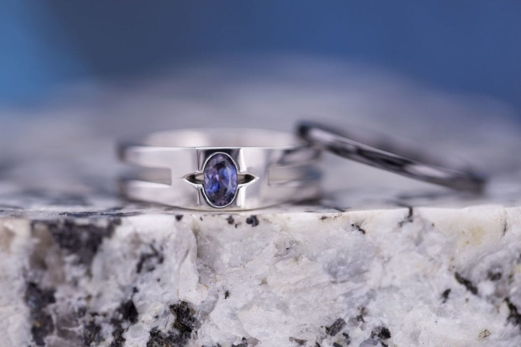 ten gemstones rarer than diamond - benitoite ring