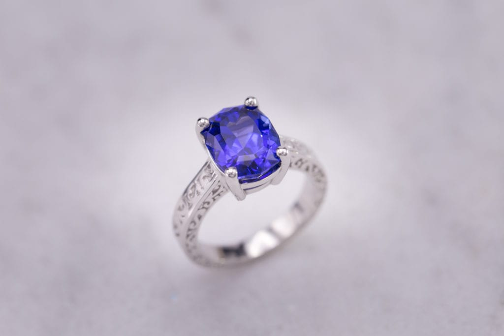 ten gemstones rarer than diamond - tanzanite ring
