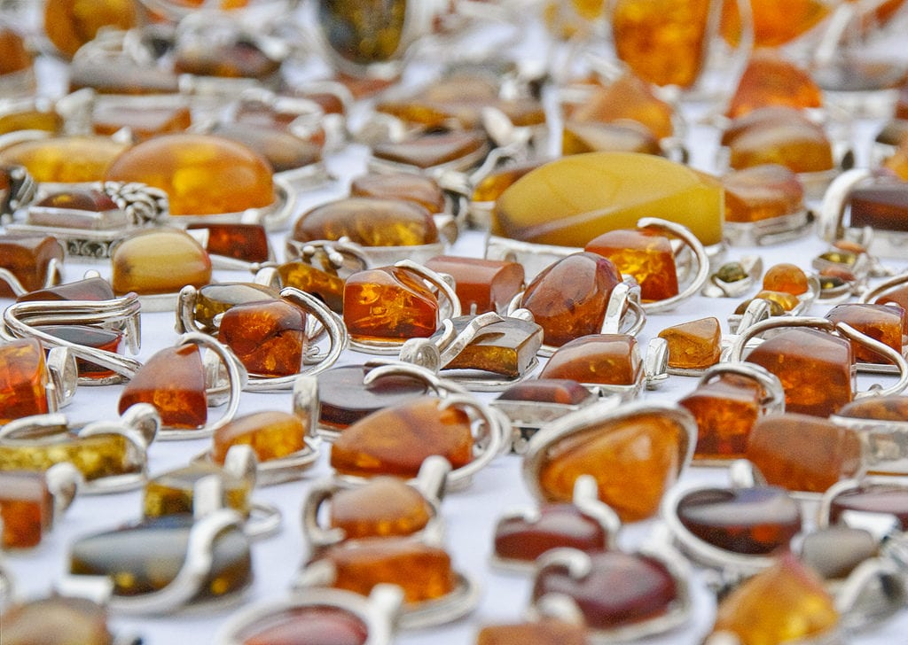 yellow gemstones - amber