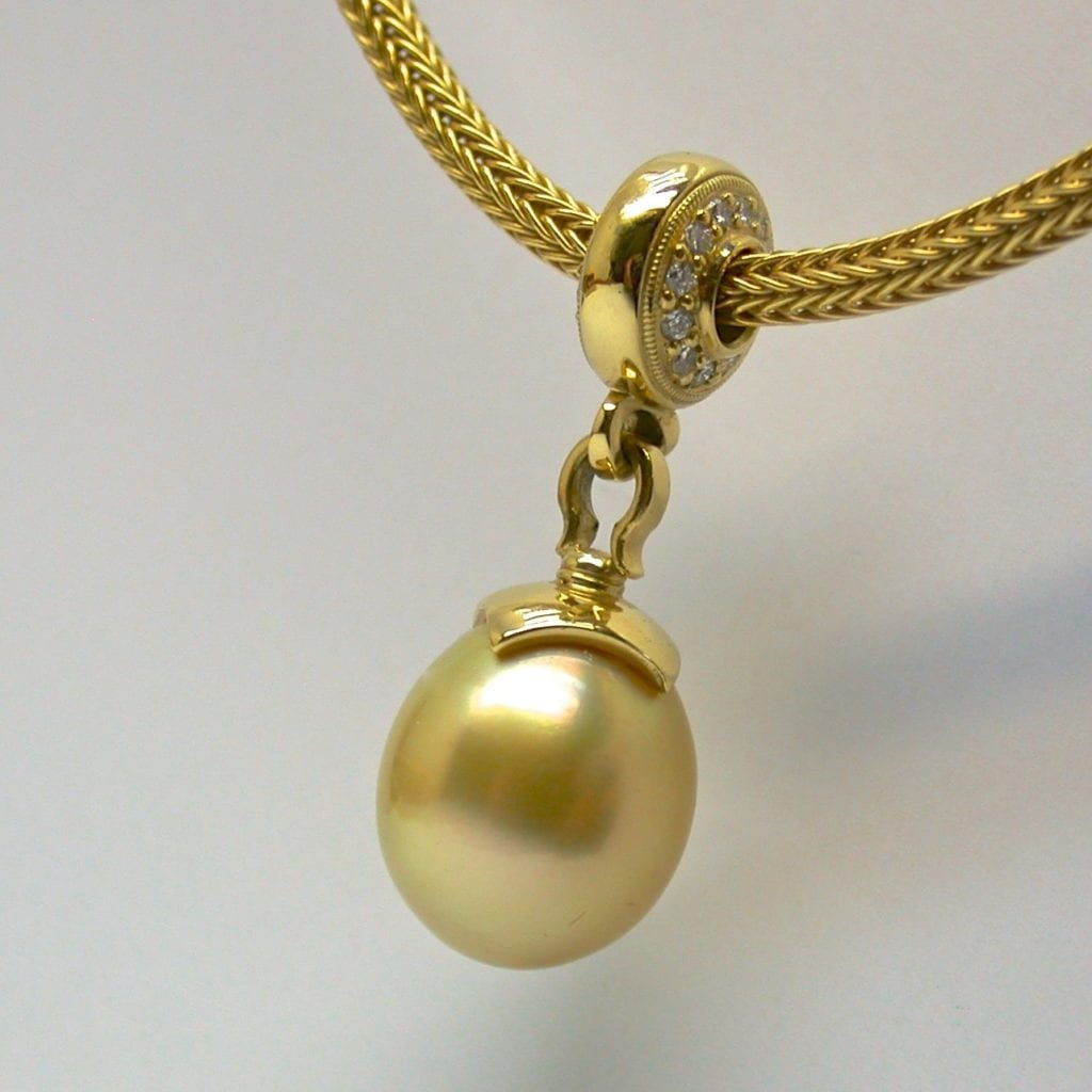 yellow gemstones - golden south sea pearl
