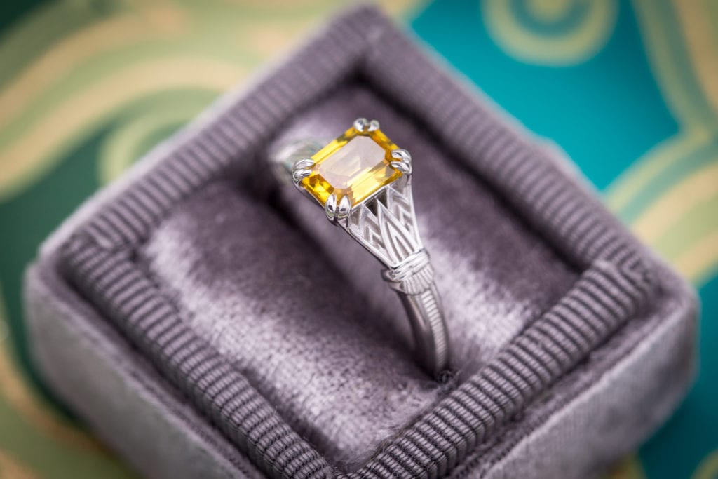 yellow gemstones - yellow sapphire ring
