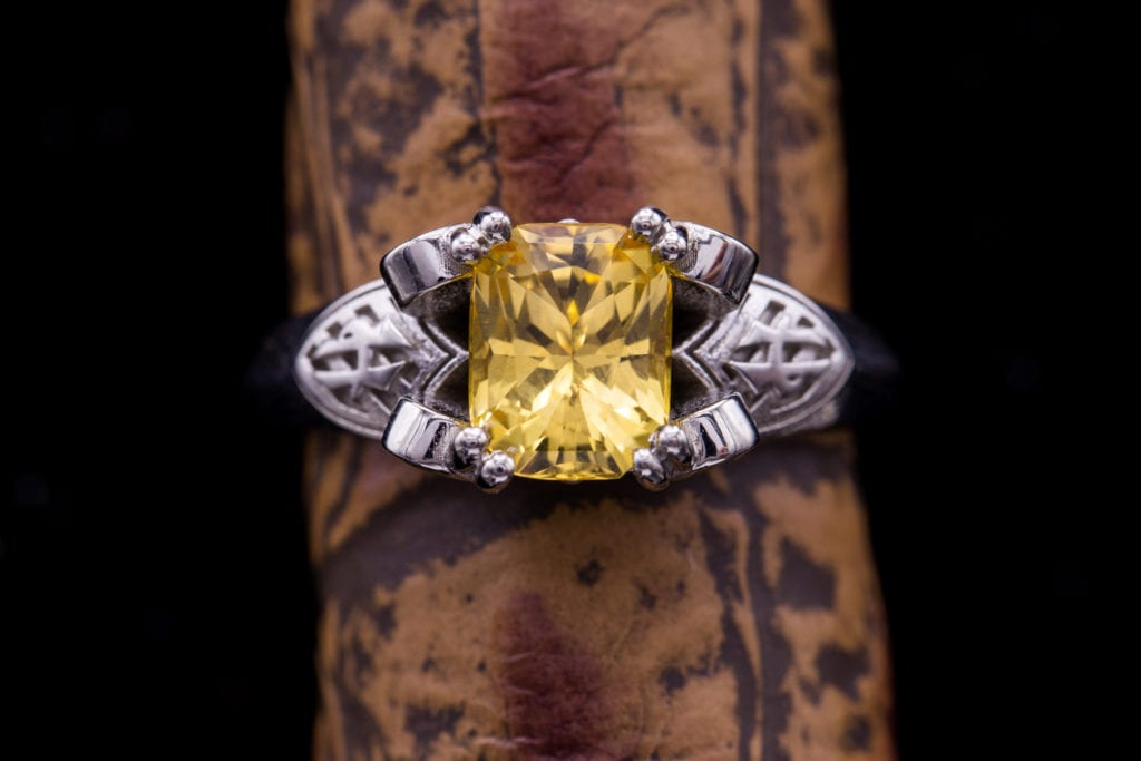 yellow gemstones - yellow topaz ring