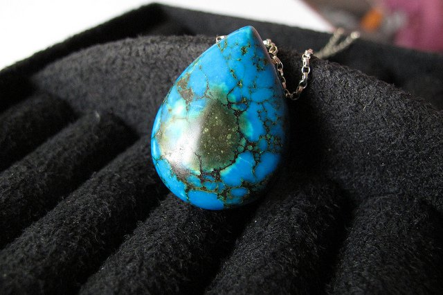 lapidary arts - turquoise cabochon