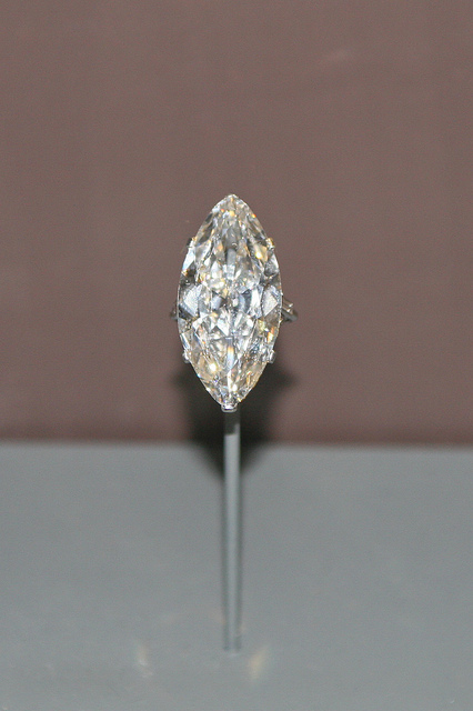 fancy gem cuts - marquise-cut diamond in a Cartier ring