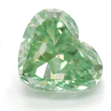 fancy gem cuts - heart-cut green diamond