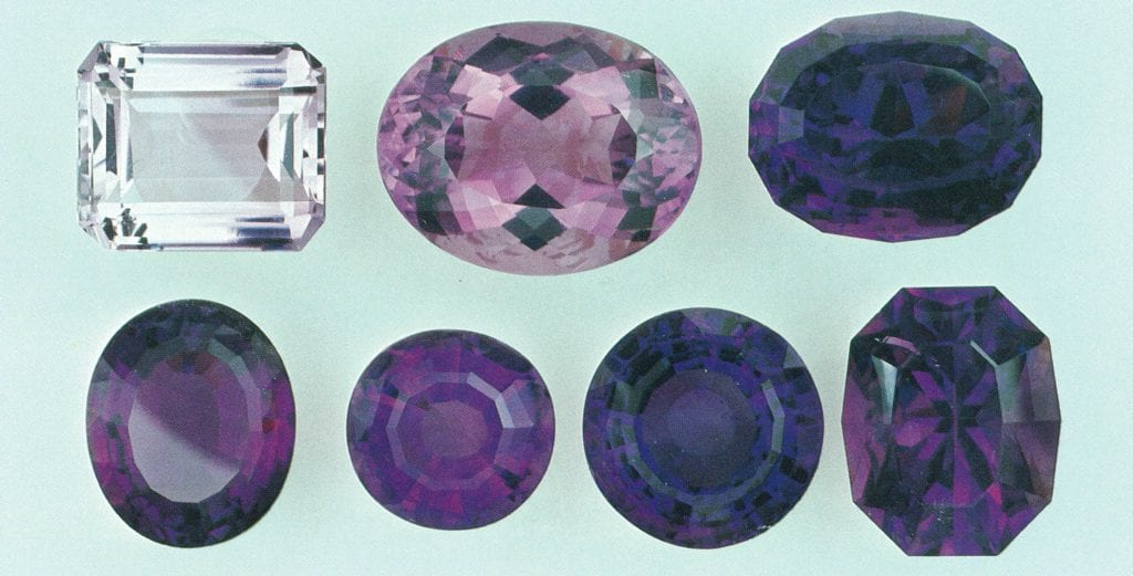 Faceted Amethyst gems - Zambia and Brazil