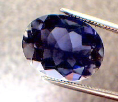 fancy gem cuts - oval-cut iolite