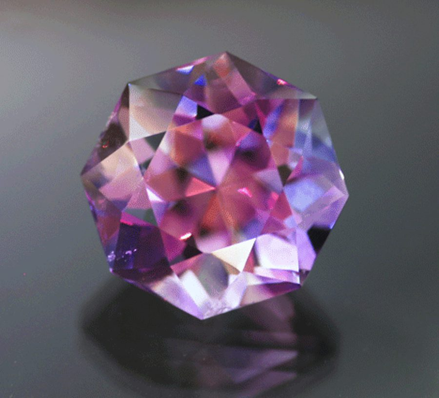 custom octagon cut amethyst - Arizona