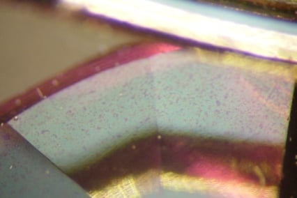 gem treatment survey results - Close up - coated pink topaz