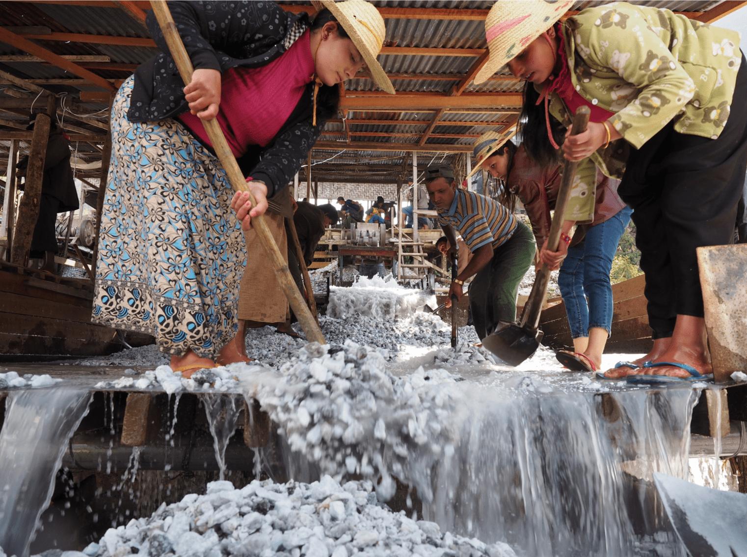 ruby mine workers - Mogok, Myanmar