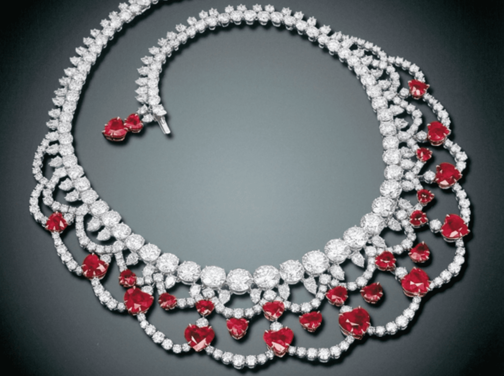 Mogok ruby and diamond necklace by Harry Winston
