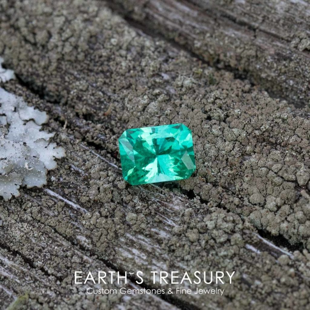 ethiopian emeralds - 1.48 ct bright green