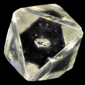 diamond with crystal inclusion - diamond clarity