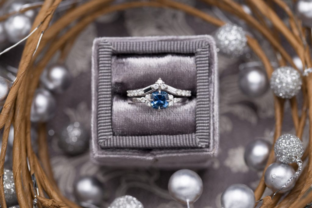 gem trends - sapphire and diamond engagement ring