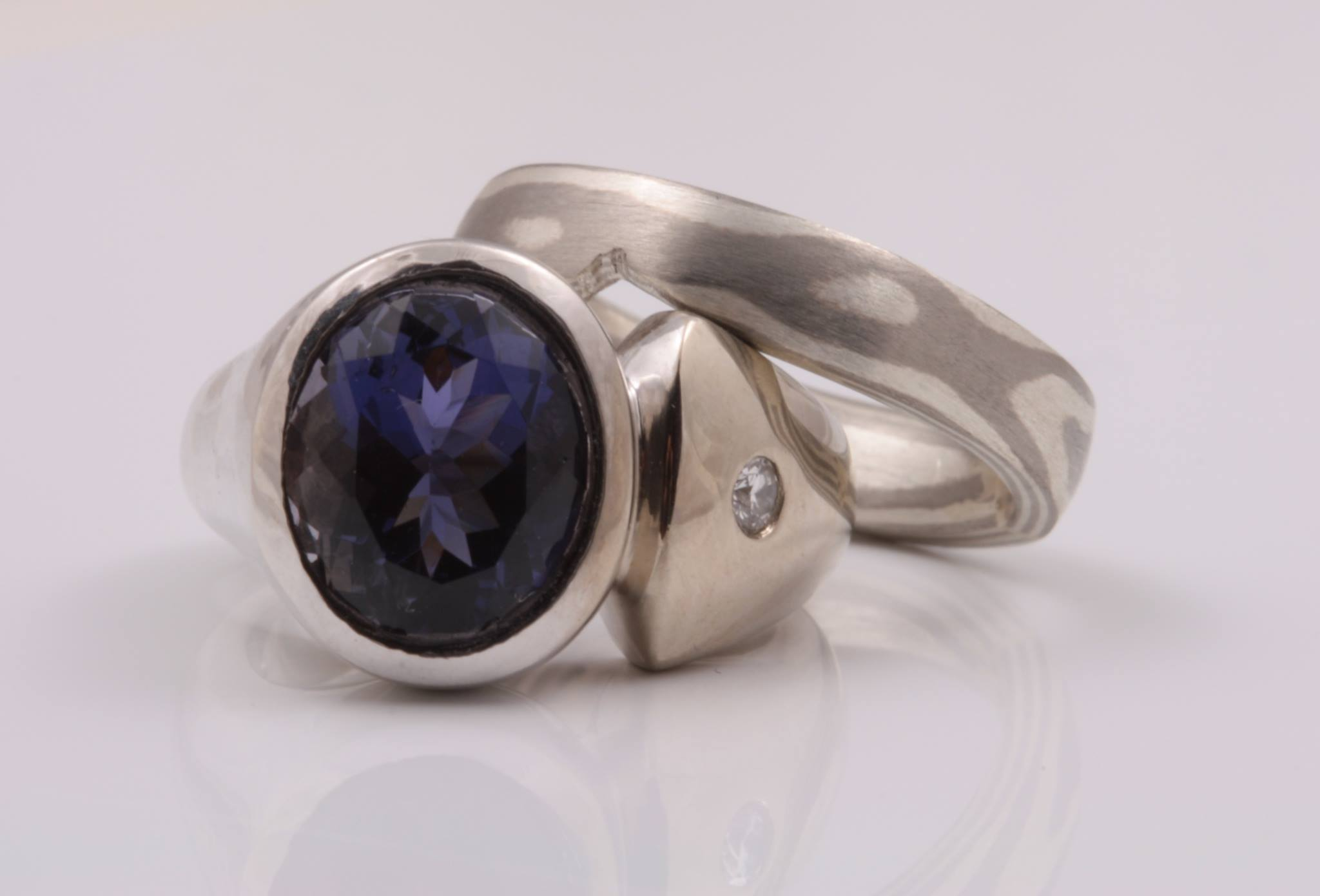 blue gemstones - iolite ring