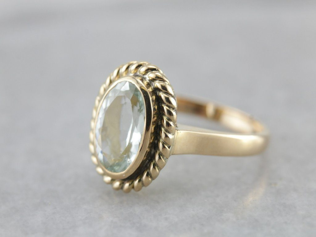blue gemstones - sillimanite ring