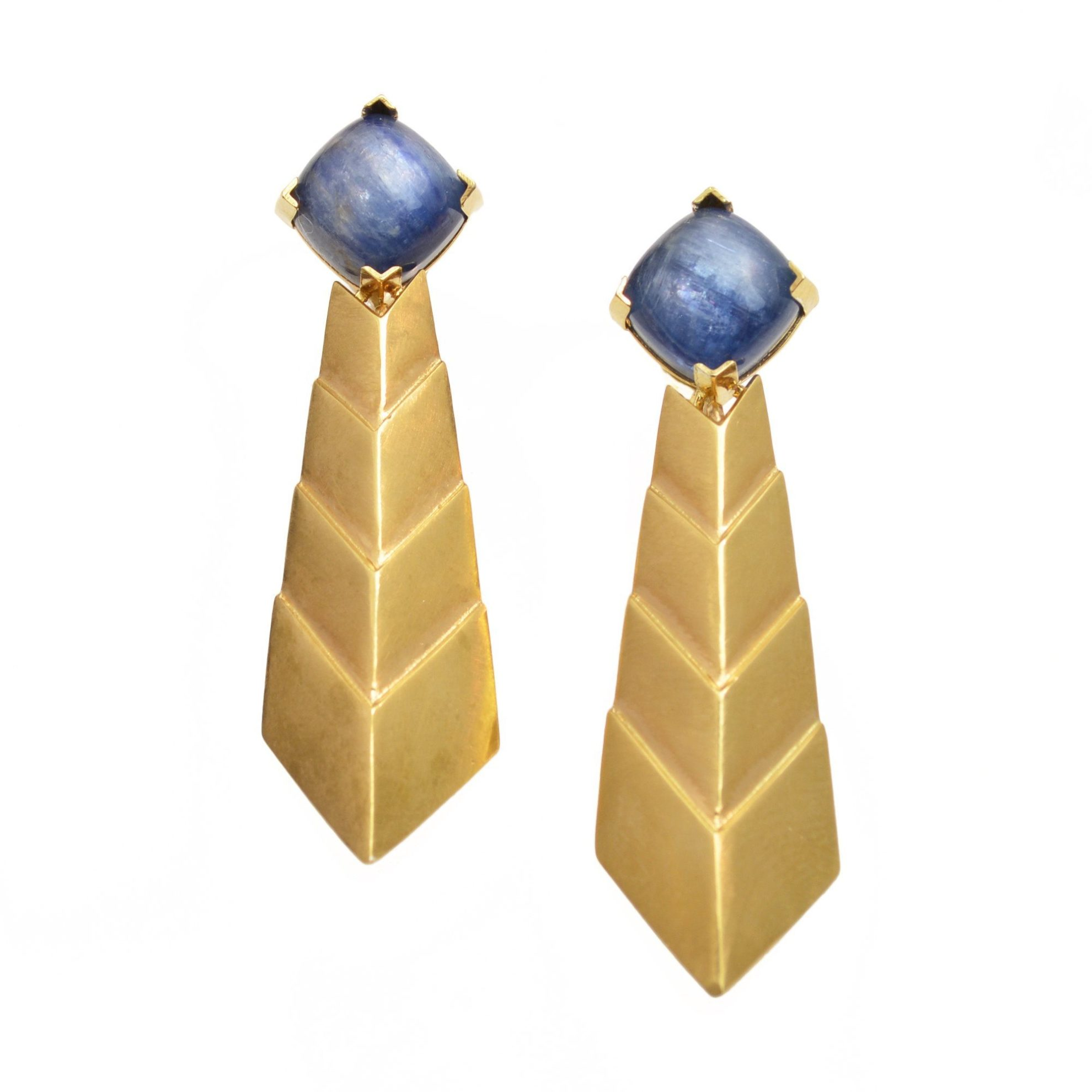 blue gemstones - kyanite earrings