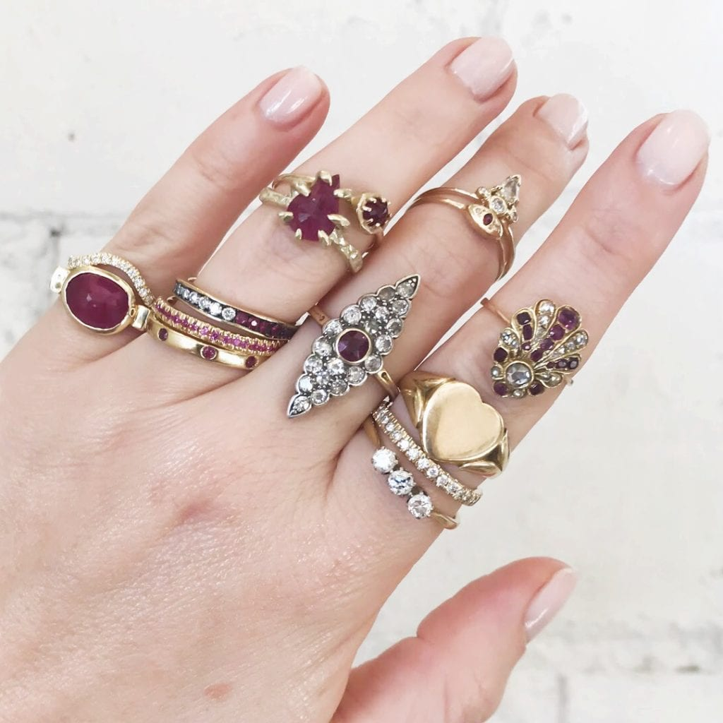 gem trends - red rings
