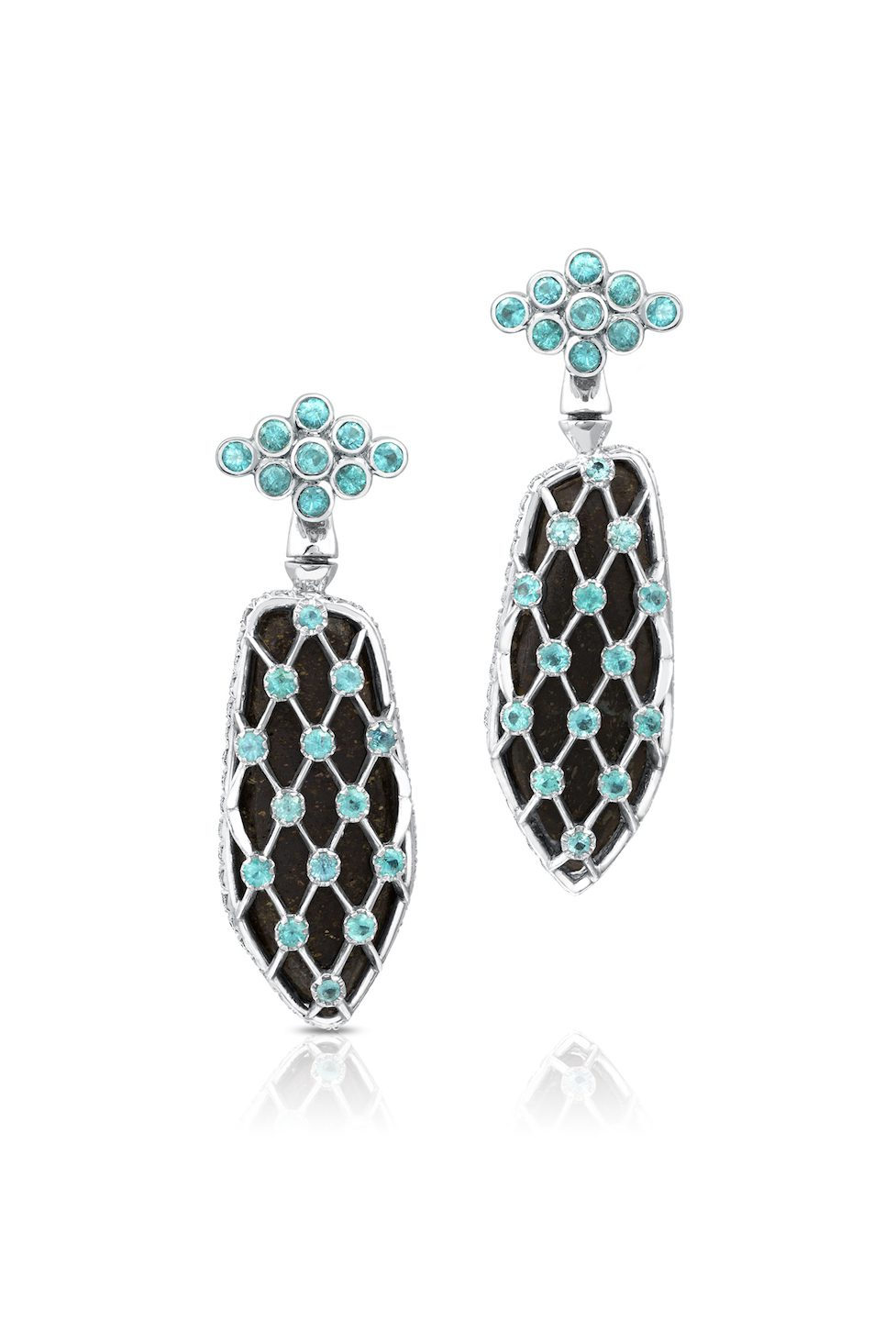 gem trends - reversible opal earrings. back