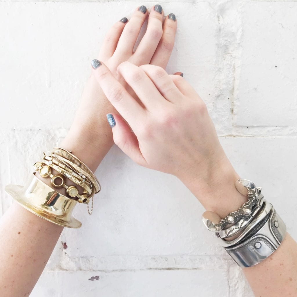 gem trends - stacked bracelets