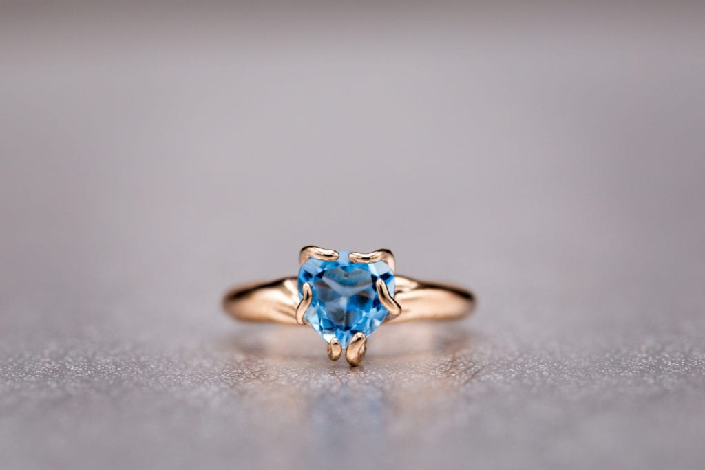blue gemstones - swiss blue topaz ring