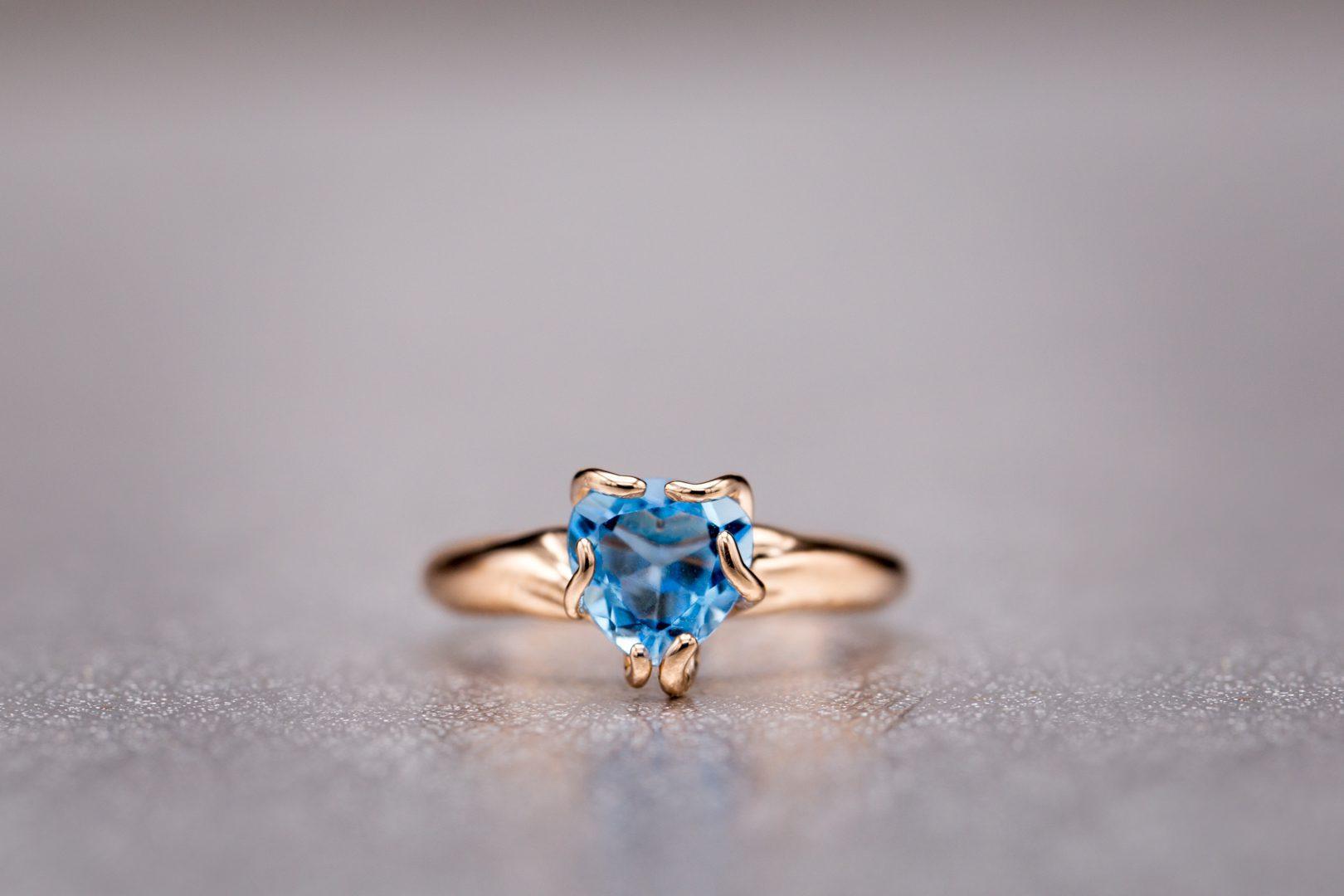 Blue Gemstones Swiss Topaz Ring
