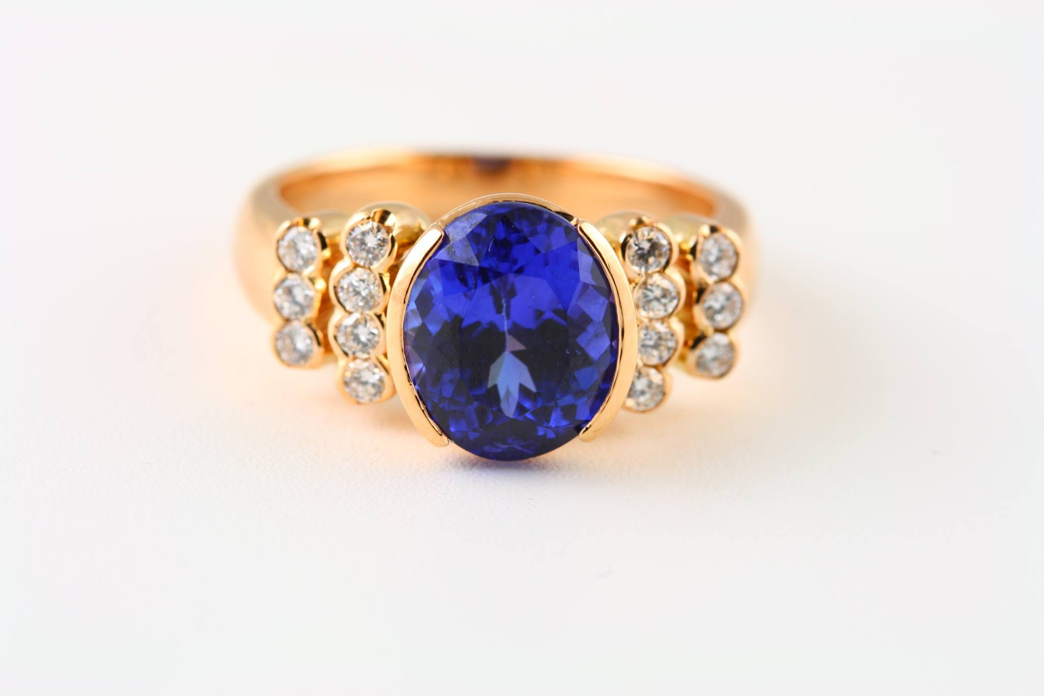 blue gemstones - tanzanite ring