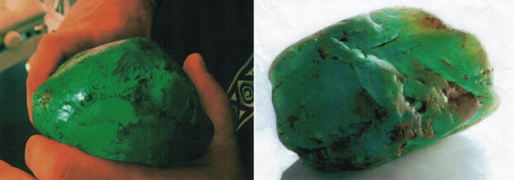 a waterworn emerald or beryl