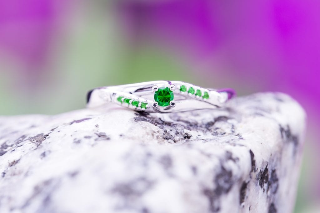 tsavorite ring - garnet engagement ring stones