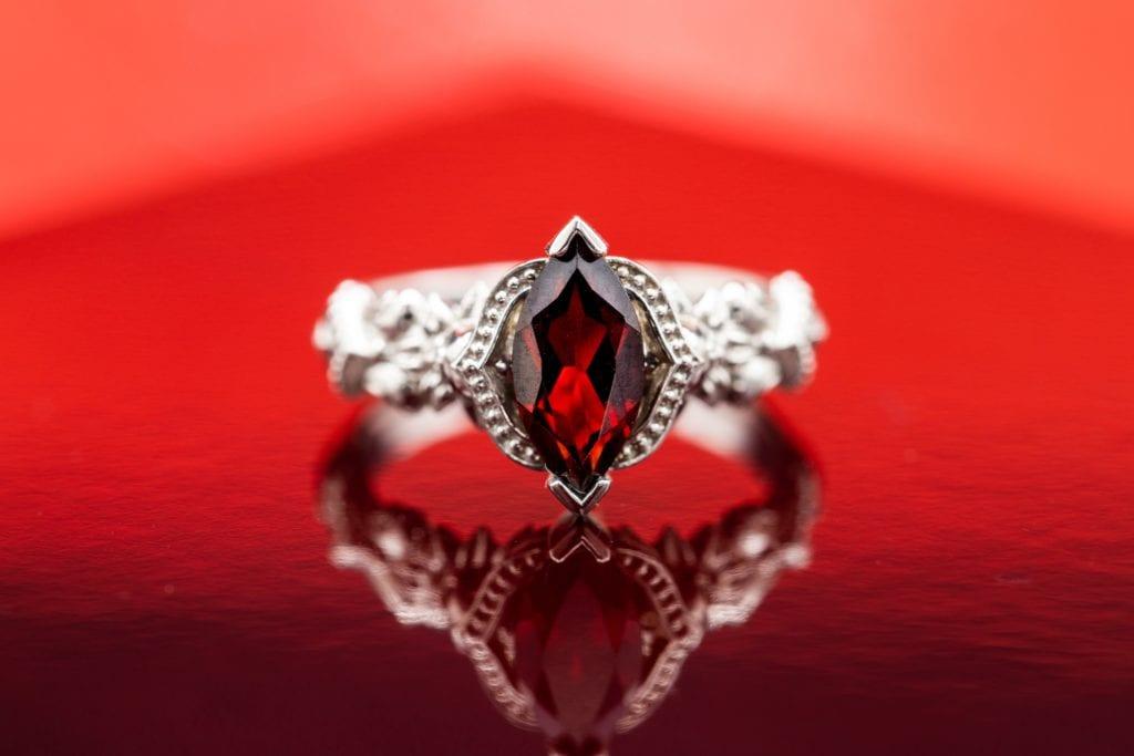 marquise-cut garnet - garnet engagement ring stones