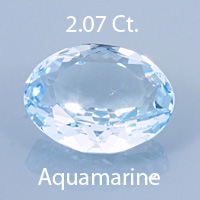 Fancy Angular Oval Cut Aquamarine, Unknown, 1.20 cts