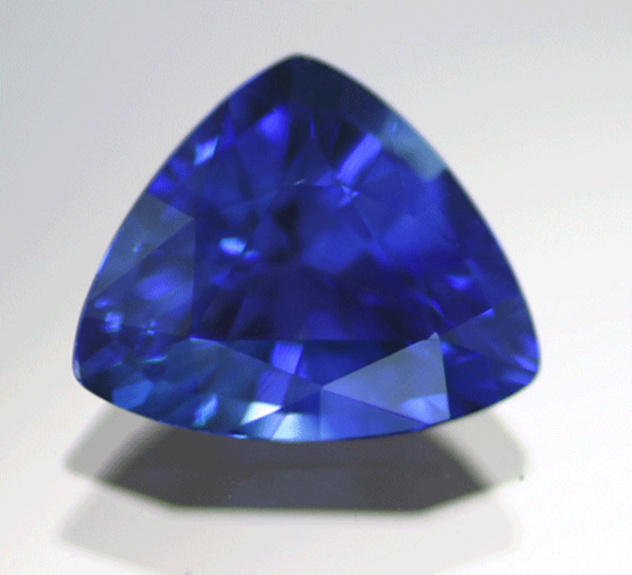 triangle-cut sapphire - sapphire engagement ring stone