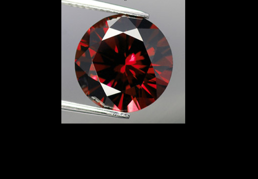 faceted pyrope - garnet engagement ring stones