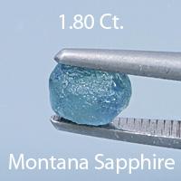 Barion Emerald Cut Sapphire, Montana, U.S.A., .83 cts