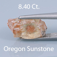 Fancy Round Brilliant Cut Sunstone, Oregon, U.S.A., 1.35 cts