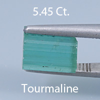 Brilliant Emerald Cut Tourmaline, Nigeria, 1.63 cts
