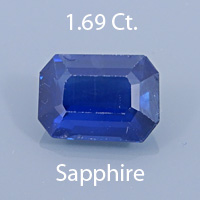 Radiant Emerald Cut Sapphire, 1.25 Cts