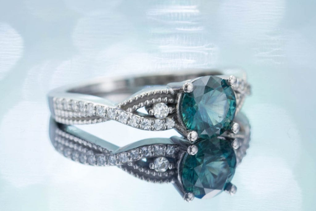 teal sapphire - sapphire engagement ring stones