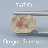Fancy Square Barion Cut Sunstone, Dust Devil Mine, Oregon, U.S.A., 1.97 cts