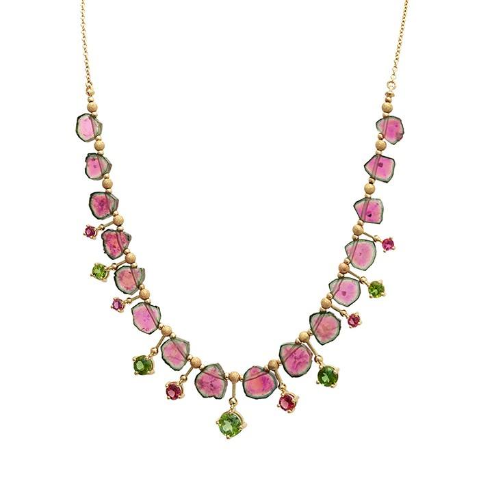 watermelon tourmaline buying guide - necklace
