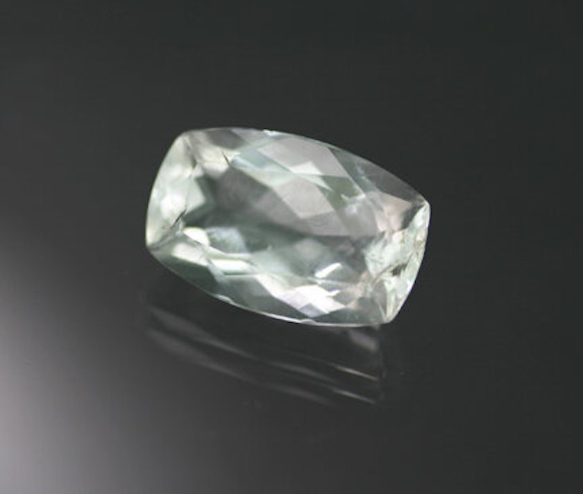 cushion-cut hyalite - normal light