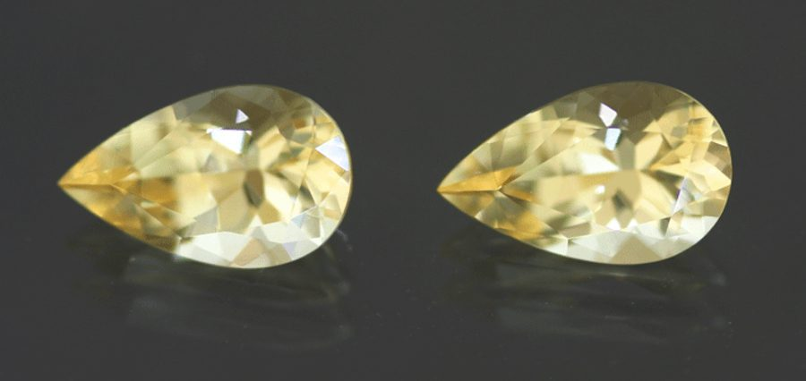 matched imperial topazes - topaz engagement ring stones