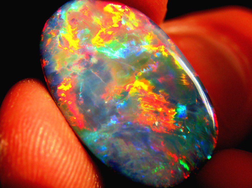 black opal - rare engagement ring stones