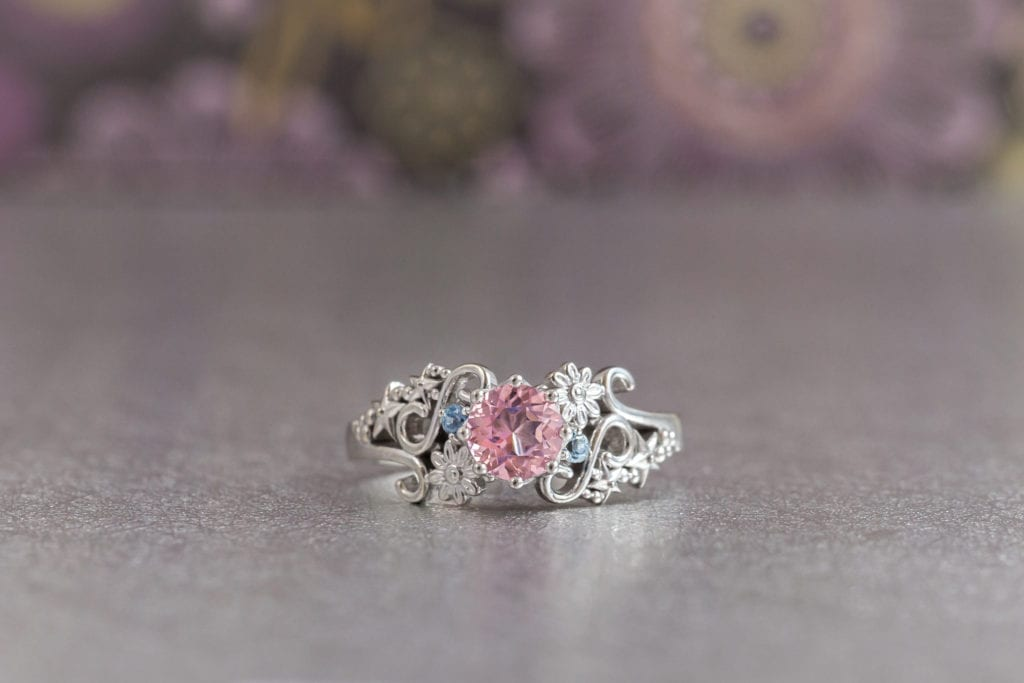 pink topaz engagement ring