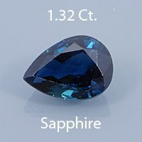 Mdified Brilliant Pear Cut Sapphire, Unknown, 1.19 cts