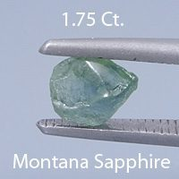 OEC Round Brilliant Cut Sapphire, Montana, U.S.A., .67 Cs. cts