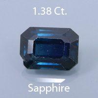Portuguese Brilliant Cut Sapphire, Montana, U.S.A., .67 Cs. cts