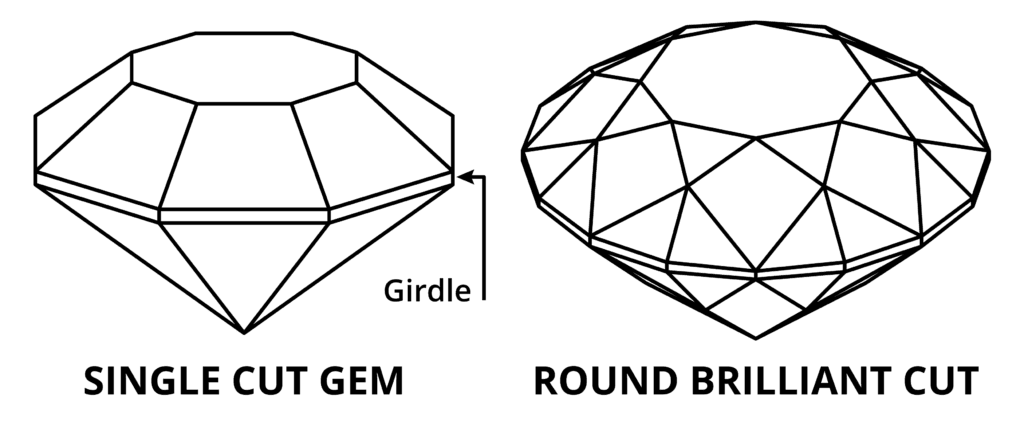 single cut and round brilliant - diamond rating