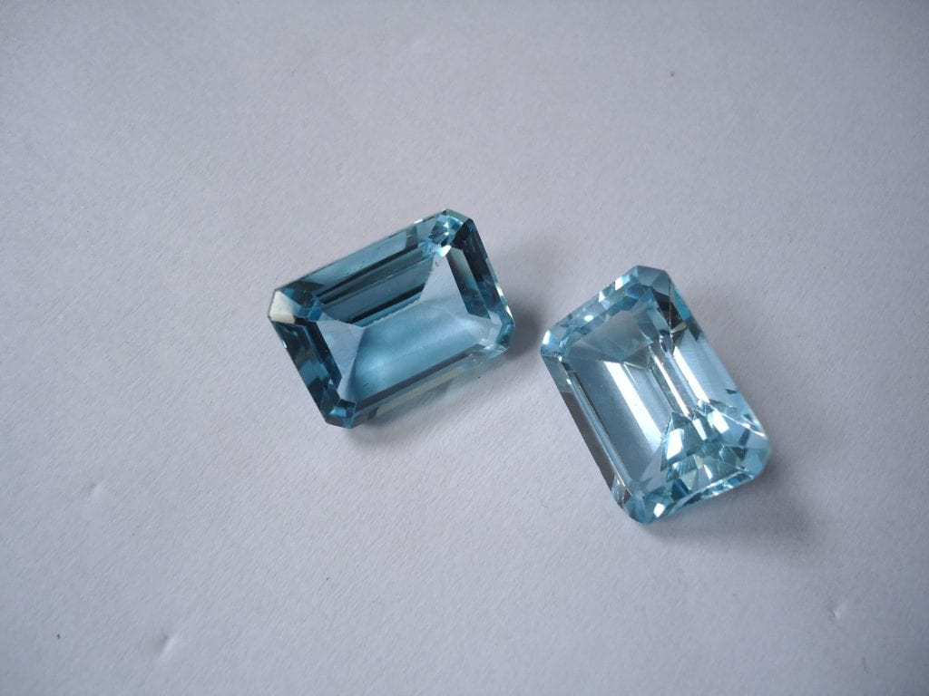 Sky Blue topazes - topaz engagement ring stones