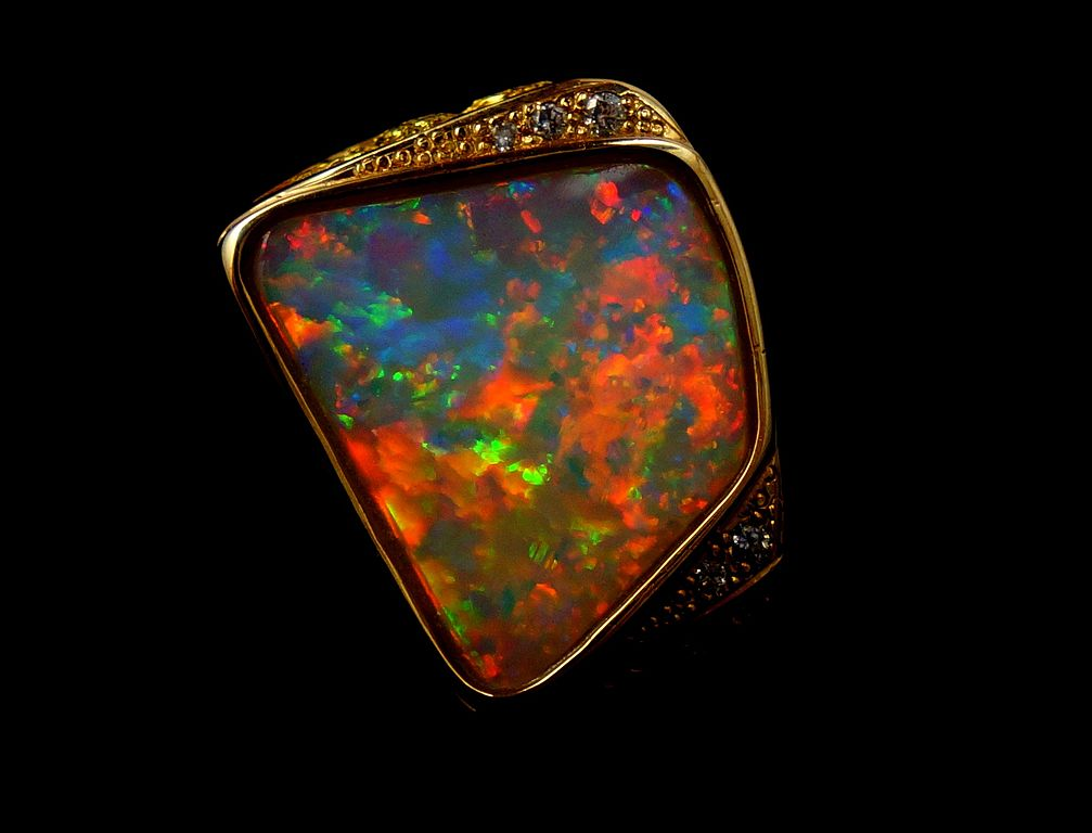 opal mens ring - opal engagement ring stone